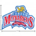 London Monarchs Style-1 Embroidered Sew On Patch