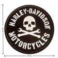 Harley Davidson Stenskull Patches Embroidered Sew On Patch
