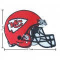 Kansas City Chiefs Helmet Style-1 Embroidered Iron On/Sew On Patch