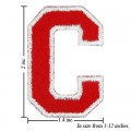 Alphabet C Style-2 Embroidered Sew On Patch