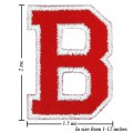 Alphabet B Style-2 Embroidered Sew On Patch