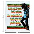Bob Marley A Reggae Ska Band Style-1 Embroidered Sew On Patch