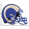 St.Louis Rams Helmet Style-1 Embroidered Iron On/Sew On Patch