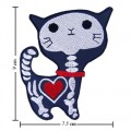 Cat Ghost Cartoon Comic Embroidered Sew On Patch