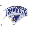 Air Force Falcons Primary Style-1 Embroidered Iron On/Sew On Patch