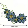 Blue Chiffon Flower Style-2 Embroidered Sew On Patch