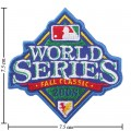 World Series 2008 Embroidered Iron On/Sew On Patch