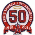 Los Angeles Angels of Anaheim 50th Anniversary Embroidered Iron On/Sew On Patch