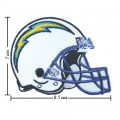 San Diego Chargers Helmet Style-1 Embroidered Iron On/Sew On Patch