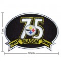 Pittsburgh Steelers 75th Season Embroidered Iron On/Sew On Patch