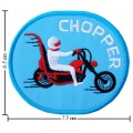 Blue Chopper Style-1 Embroidered Sew On Patch