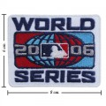 World Series 2006 Embroidered Iron On/Sew On Patch