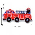 Children's Red Fire Engine Truck Embroidered Sew On Patch
