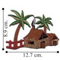 Tiki Hut Style-2 Embroidered Sew On Patch