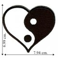 Yin-Yang Heart Embroidered Sew On Patch