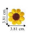 Colored Daisy Style-3 Embroidered Sew On Patch