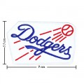 Los Angeles Dodgers Round Style-1 Embroidered Iron On/Sew On Patch