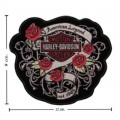Harley Davidson American Beauty Patches Embroidered Sew On Patch