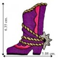 Cowgirl Boot Style-1 Embroidered Sew On Patch