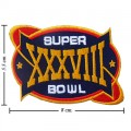 Super Bowl XXXVIII 2003 Style-38 Embroidered Sew On Patch