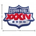 Super Bowl XXXIV 1999 Style-34 Embroidered Iron On/Sew On Patch